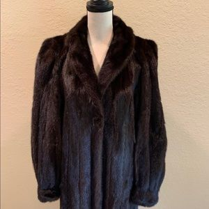 Jackets & Blazers - Vintage Mahogany Mink Coat Size 10-12